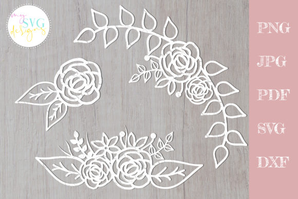 Download Free 2 Flower Svg File Designs Graphics for Cricut Explore, Silhouette and other cutting machines.