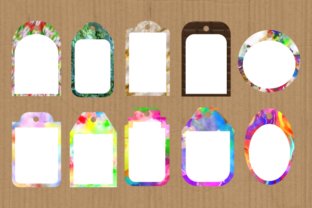 Print on Demand: Funky Tag Template Banner Label Frames Graphic Backgrounds By Prawny 7