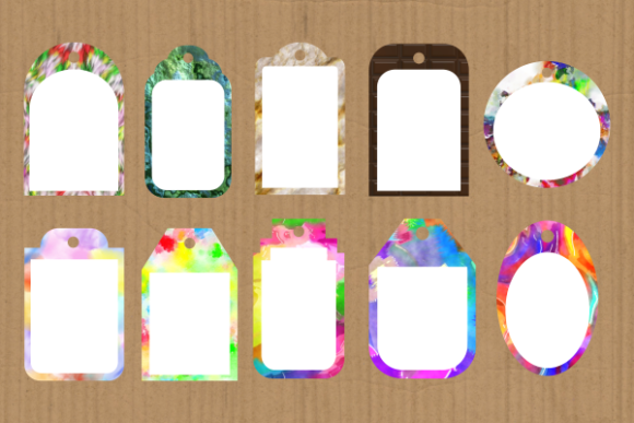 Print on Demand: Funky Tag Template Banner Label Frames Graphic Backgrounds By Prawny - Image 7