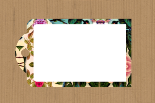 Print on Demand: Funky Tag Template Banner Label Frames Graphic Backgrounds By Prawny 9