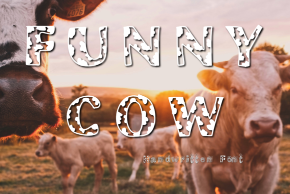 Download Free Funny Cow Font By Chunnapastudio Creative Fabrica for Cricut Explore, Silhouette and other cutting machines.