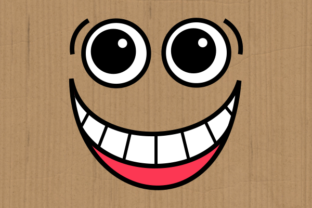 Print on Demand: Funny Faces Cute Cartoon Expressions Graphic Crafts By Prawny 6