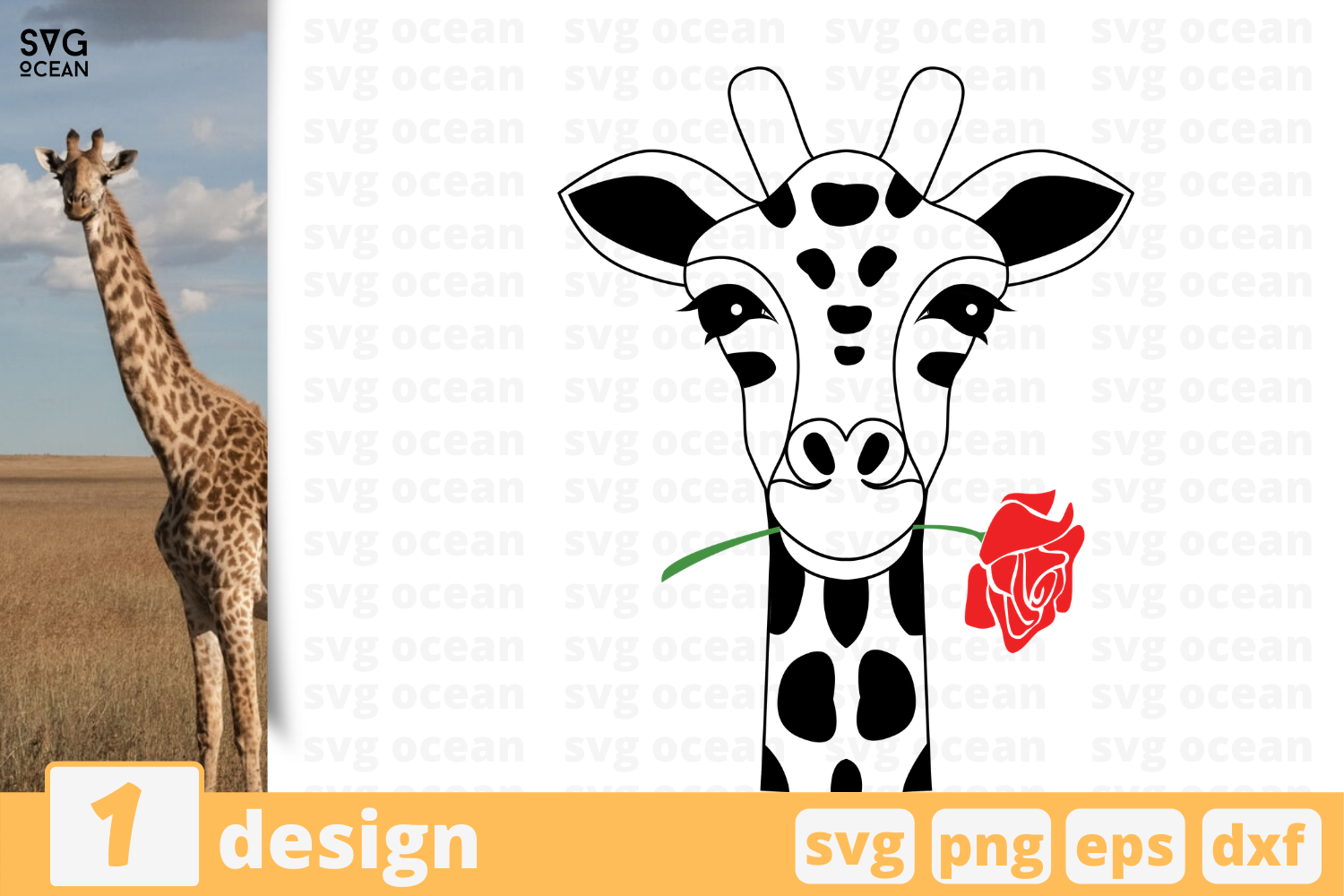 Download Free Giraffe Graphic By Svgocean Creative Fabrica for Cricut Explore, Silhouette and other cutting machines.