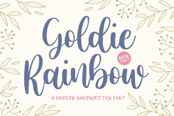 Print on Demand: Goldie Rainbow Script & Handwritten Font By Balpirick