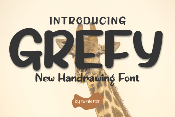 Download Free Grefy Font By Twinletter Creative Fabrica for Cricut Explore, Silhouette and other cutting machines.