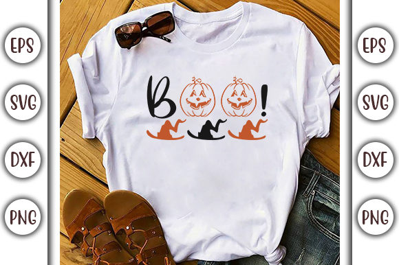 Download Free Halloween Quotes Design Boo Graphic By Graphicsbooth for Cricut Explore, Silhouette and other cutting machines.