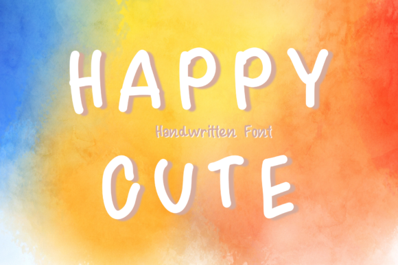 Download Free Happy Cute Font By Chunnapastudio Creative Fabrica for Cricut Explore, Silhouette and other cutting machines.