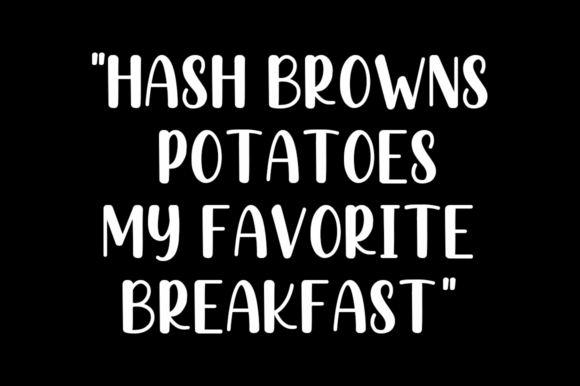 Print on Demand: Hashed Browns Script & Handwritten Font By Manjalistudio - Image 3