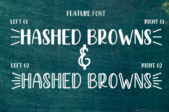 Print on Demand: Hashed Browns Script & Handwritten Font By Manjalistudio - Image 6