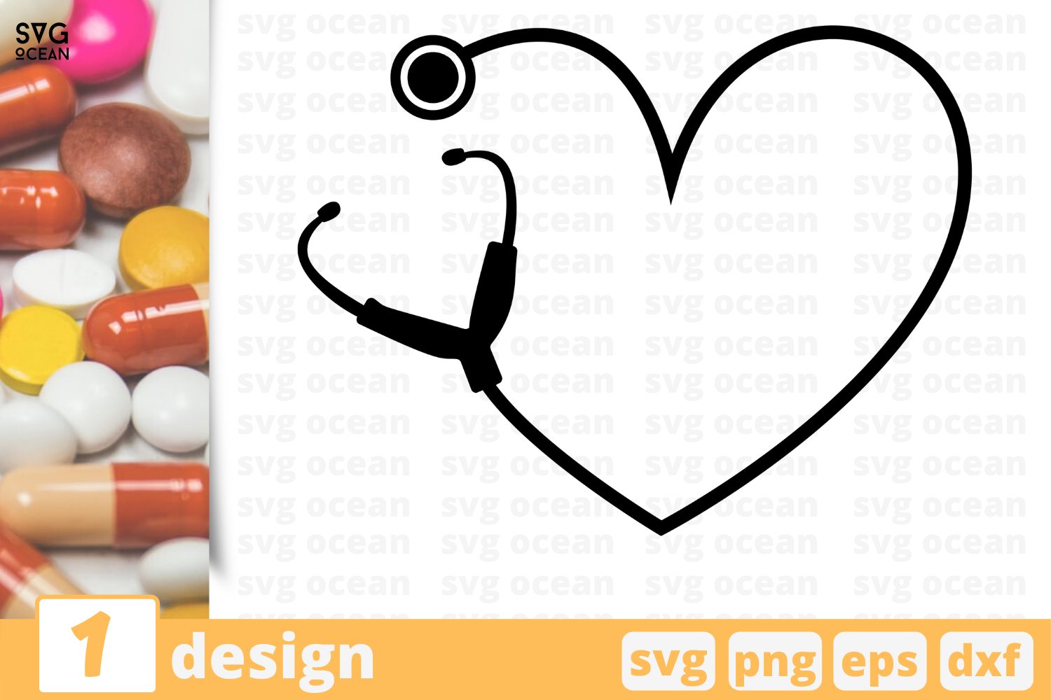 Download Free Heart Graphic By Svgocean Creative Fabrica for Cricut Explore, Silhouette and other cutting machines.