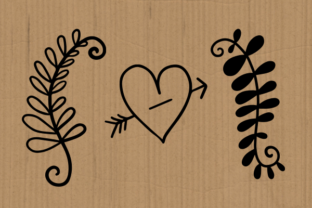 Print on Demand: Hearts and Flowers Doodle Graphic Crafts By Prawny 3