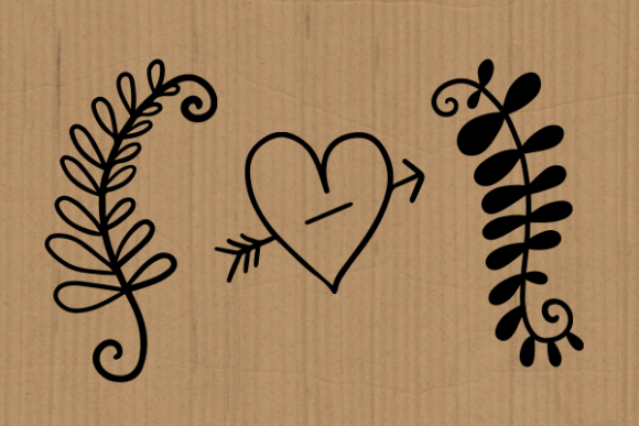 Print on Demand: Hearts and Flowers Doodle Cut Files Graphic Illustrations By Prawny - Image 3