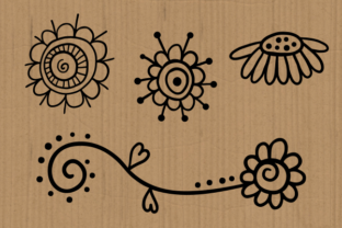 Print on Demand: Hearts and Flowers Doodle Graphic Crafts By Prawny 4