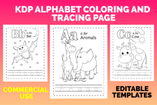 Print on Demand: KDP Alphabet Coloring and Tracing Page Graphic KDP Interiors By MK DESIGNS