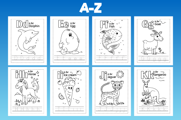 Print on Demand: KDP Alphabet Coloring and Tracing Page Graphic KDP Interiors By MK DESIGNS - Image 2