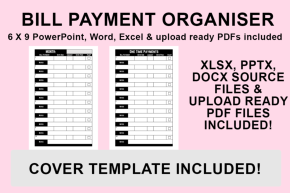 Print on Demand: KDP Interior - Bill Payment Organiser Graphic KDP Interiors By Luke Bowes