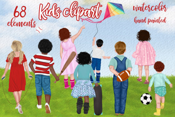 Kids Clipart  Graphic Illustrations By LeCoqDesign