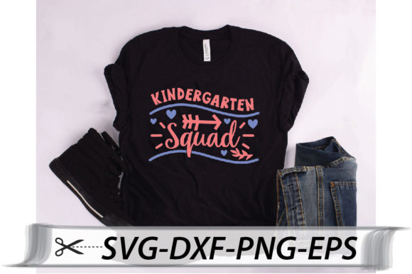 Download Free Kindergarten Squad Quote Graphic By Svg Store Creative Fabrica for Cricut Explore, Silhouette and other cutting machines.
