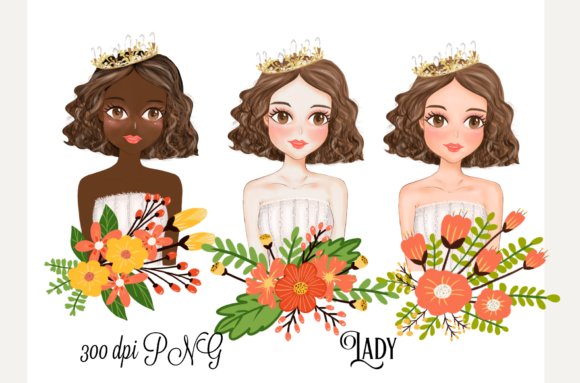 Print on Demand: Lady Cute Clipart Graphic Illustrations By Suda Digital Art