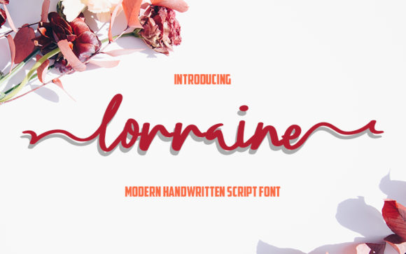 Print on Demand: Lorraine Script & Handwritten Font By Graph Arts