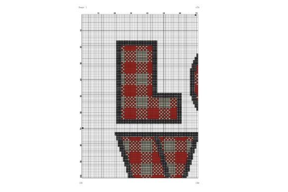 Love Lumberjack Plaid Geometric Stitch Graphic Cross Stitch Patterns By e6702 - Image 2