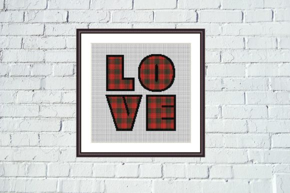 Love Lumberjack Plaid Geometric Stitch Graphic Cross Stitch Patterns By e6702 - Image 4