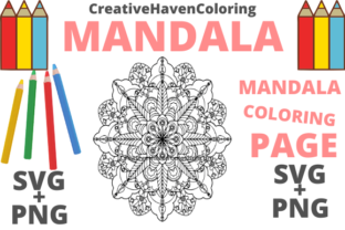 Print on Demand: Mandala Coloring Page #1 Graphic Coloring Pages & Books Adults
