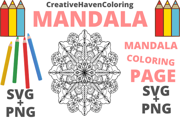Print on Demand: Mandala Coloring Page #1 Graphic Coloring Pages & Books Adults By creativehavencoloring