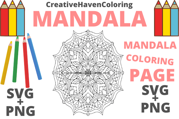 Download Free Mandala Coloring Page 11 Graphic By Creativehavencoloring for Cricut Explore, Silhouette and other cutting machines.