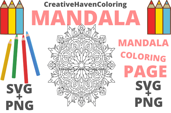 Download Free Mandala Coloring Page 12 Graphic By Creativehavencoloring for Cricut Explore, Silhouette and other cutting machines.