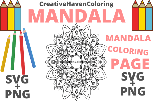 Download Free Mandala Coloring Page 13 Graphic By Creativehavencoloring Creative Fabrica for Cricut Explore, Silhouette and other cutting machines.