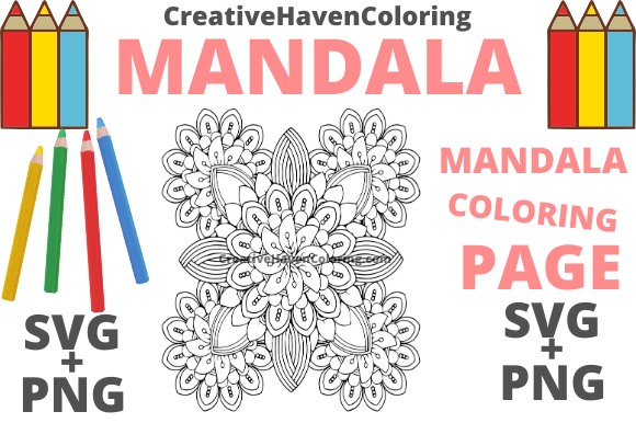 Print on Demand: Mandala Coloring Page #16 Graphic Coloring Pages & Books Adults By creativehavencoloring