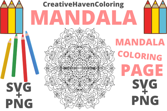 Print on Demand: Mandala Coloring Page #2 Graphic Coloring Pages & Books Adults By creativehavencoloring