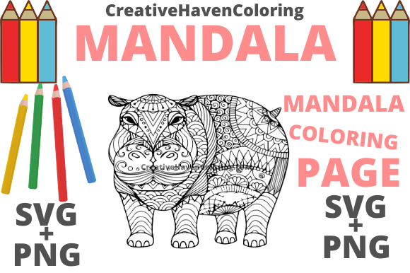 Print on Demand: Mandala Coloring Page #5 Graphic Coloring Pages & Books Adults By creativehavencoloring