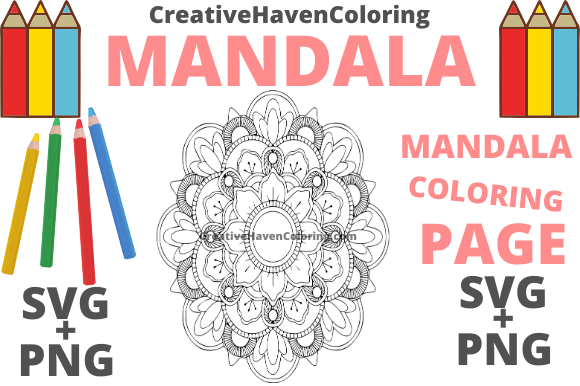 Print on Demand: Mandala Coloring Page #8 Graphic Coloring Pages & Books Adults By creativehavencoloring
