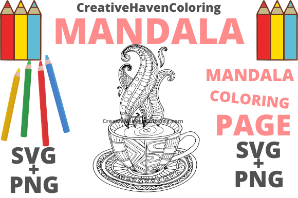 Download Free Mandala Coloring Page 9 Graphic By Creativehavencoloring for Cricut Explore, Silhouette and other cutting machines.