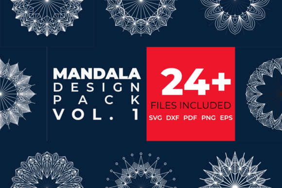 Download Free Mandala Design Pack Vol 1 Graphic By Kangndisen Creative Fabrica for Cricut Explore, Silhouette and other cutting machines.