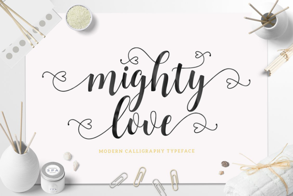 Print on Demand: Mighty Love Script & Handwritten Font By Unicode Studio