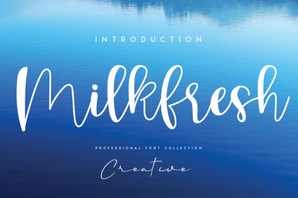 Print on Demand: Milkfresh Script & Handwritten Font By CREATIVEWHITE