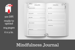 Print on Demand: Mindfulness Journal • 204 Pages Graphic KDP Interiors By KDP Template Designs 1