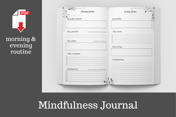 Print on Demand: Mindfulness Journal • 204 Pages Graphic KDP Interiors By KDP Template Designs - Image 2