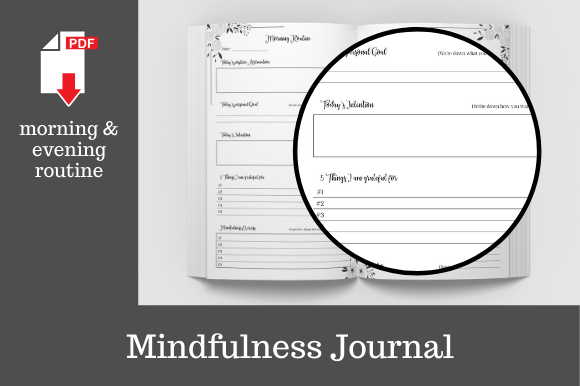 Print on Demand: Mindfulness Journal • 204 Pages Graphic KDP Interiors By KDP Template Designs - Image 4