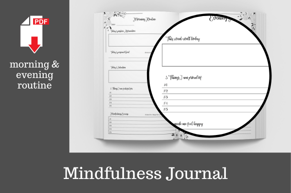 Print on Demand: Mindfulness Journal • 204 Pages Graphic KDP Interiors By KDP Template Designs - Image 5