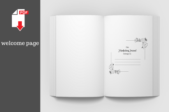 Print on Demand: Mindfulness Journal • 204 Pages Graphic KDP Interiors By KDP Template Designs - Image 6