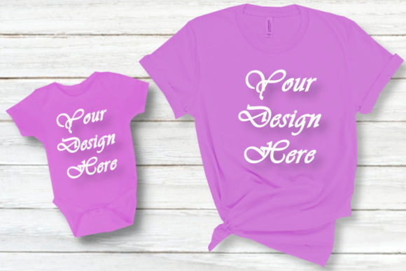 Mockup Mom and Daughter T-Shirt Family Graphic Product Mockups By MockupsByGaby