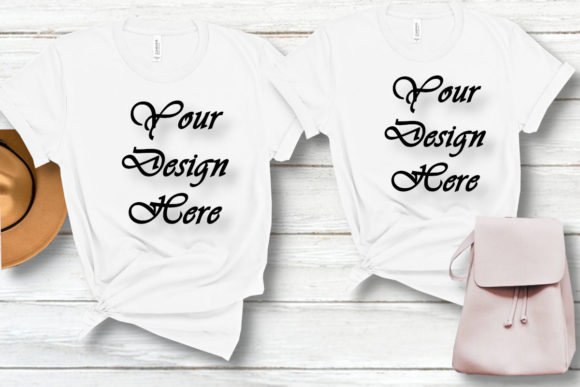 Mockups Couple Family T-Shirts Pair Graphic Product Mockups By MockupsByGaby