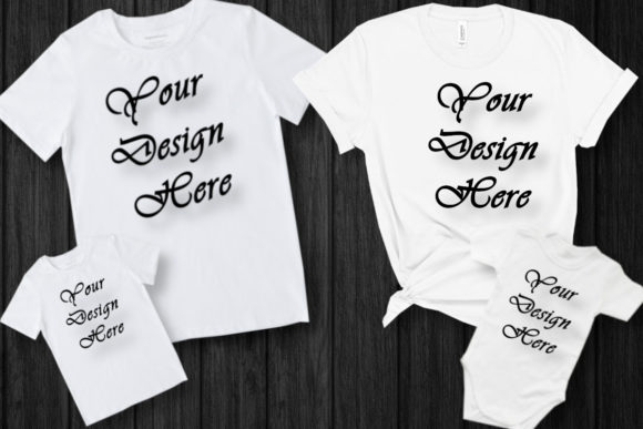 Mockups Family Matching White T-Shirts Graphic Product Mockups By MockupsByGaby