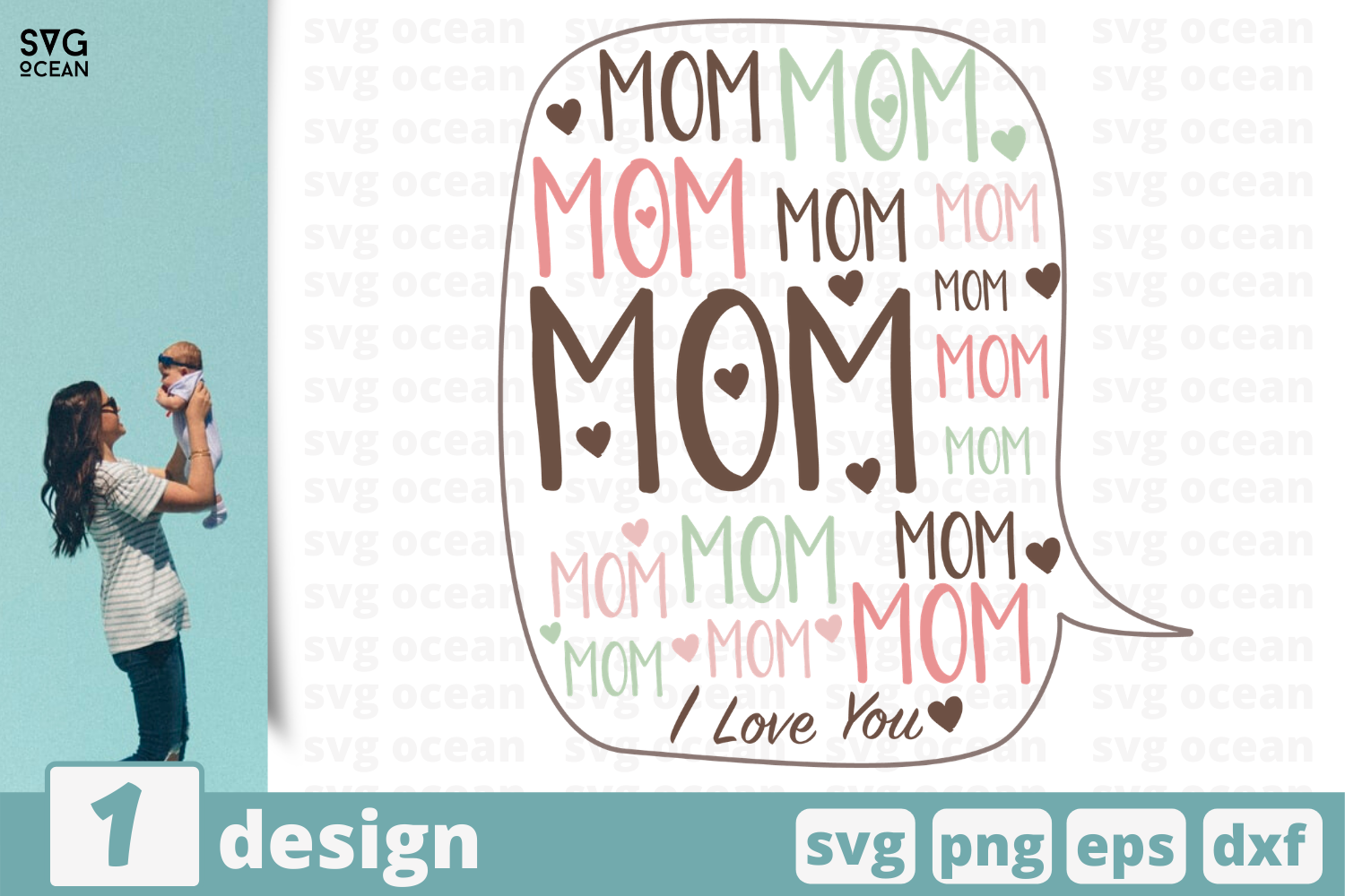 Download Free Mom Graphic By Svgocean Creative Fabrica for Cricut Explore, Silhouette and other cutting machines.