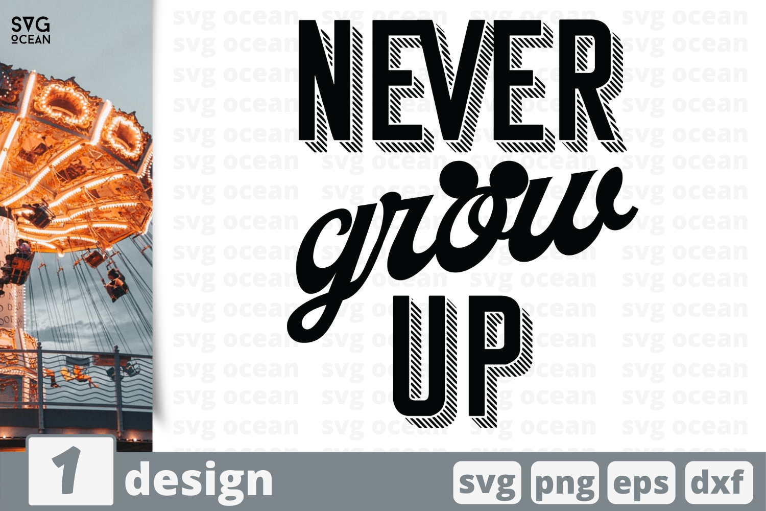 Download Free Never Grow Up Graphic By Svgocean Creative Fabrica for Cricut Explore, Silhouette and other cutting machines.