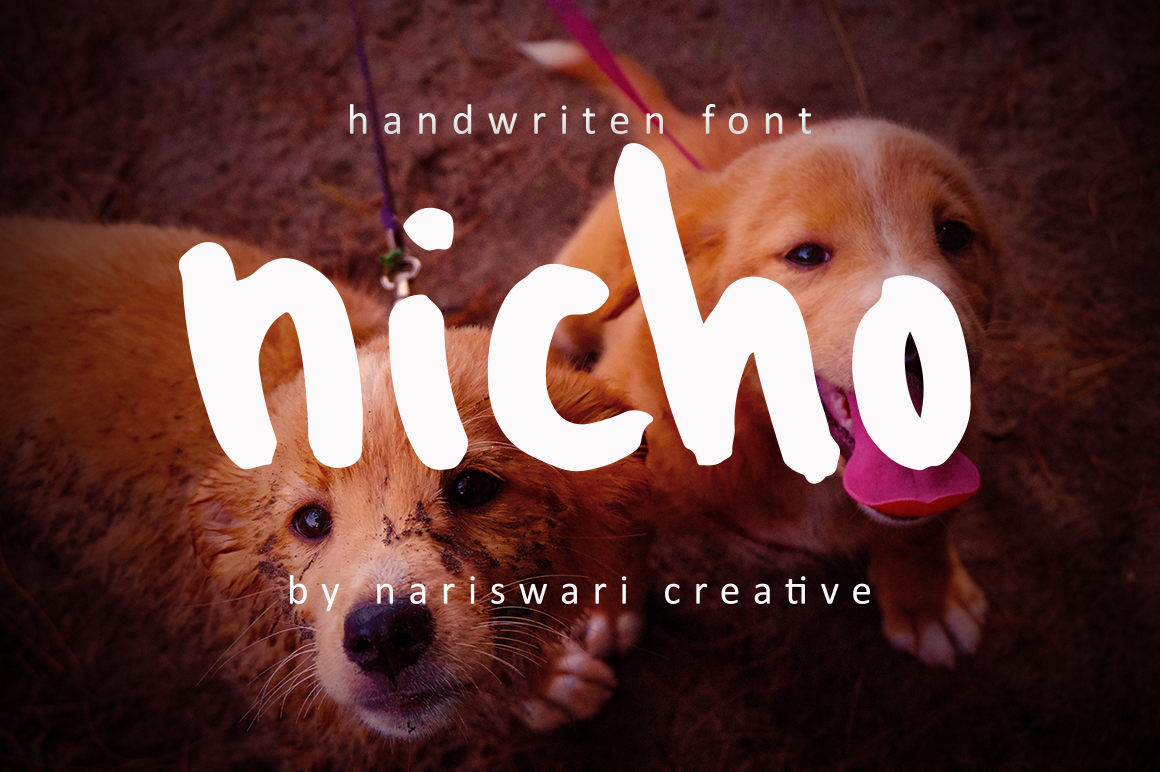 Download Free Nicho Font By Nariswari Creative Creative Fabrica for Cricut Explore, Silhouette and other cutting machines.
